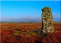 NX3355 : Cairn on Craigeach Moor by Andy Farrington