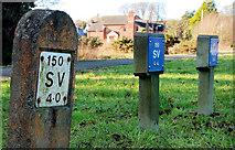 J4774 : Fire hydrant posts, Newtownards by Albert Bridge
