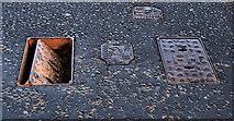 J4774 : Fire hydrant covers, Newtownards by Albert Bridge