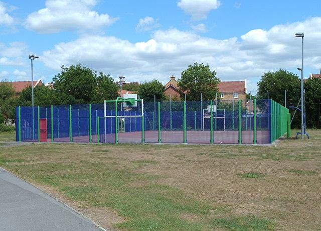 Basketball park near Malago Vale, Bristol
