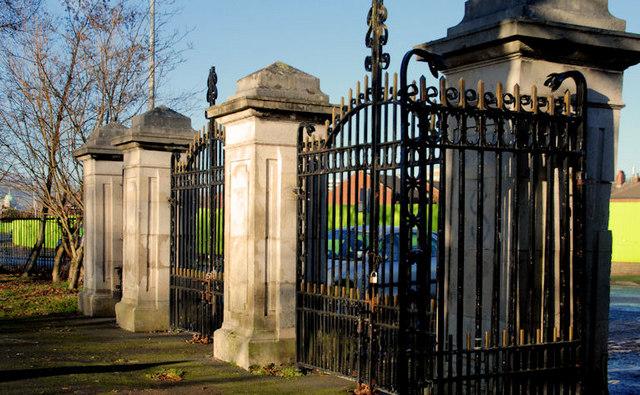 Side gate, Ormeau Park, Belfast