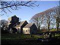 SS9774 : St Brynach's Church and churchyard, Llanfrynach by John Lord