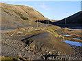 SN8074 : Slag heap, Cwm Ystwyth by Nigel Brown