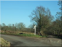 SX9896 : Junction east of Dog Village by David Smith