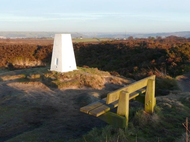 Triangulation pillar, Norland Moor