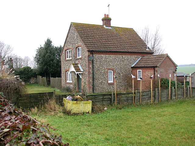 Flint and brick cottage in Westgate