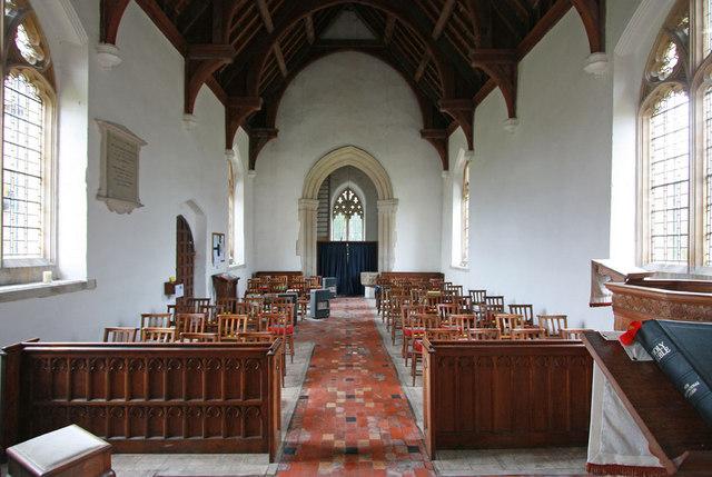 St Nicholas, Little Chishill - West end