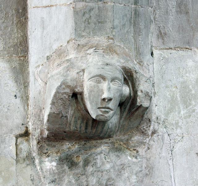 St Swithun, Great Chishill - Corbel