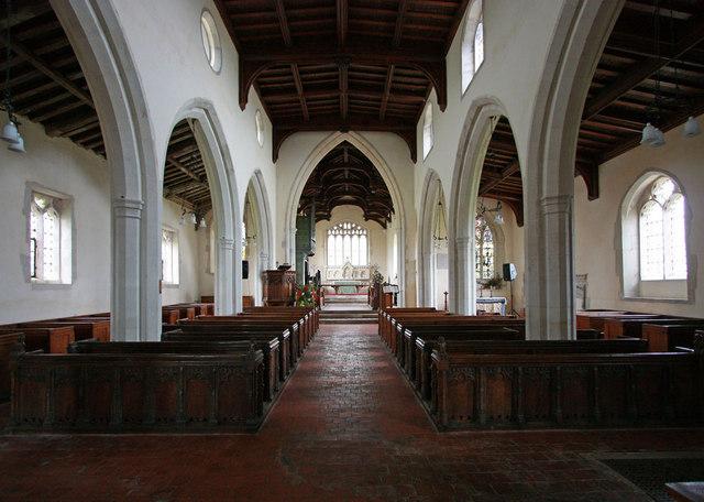 Holy Trinity, Chrishall, Essex - East end
