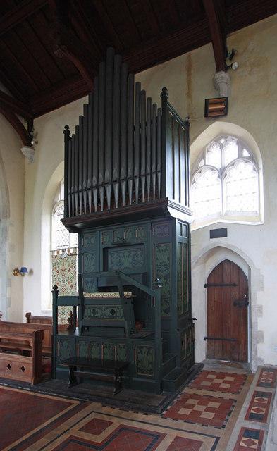 Holy Trinity, Chrishall, Essex - Organ
