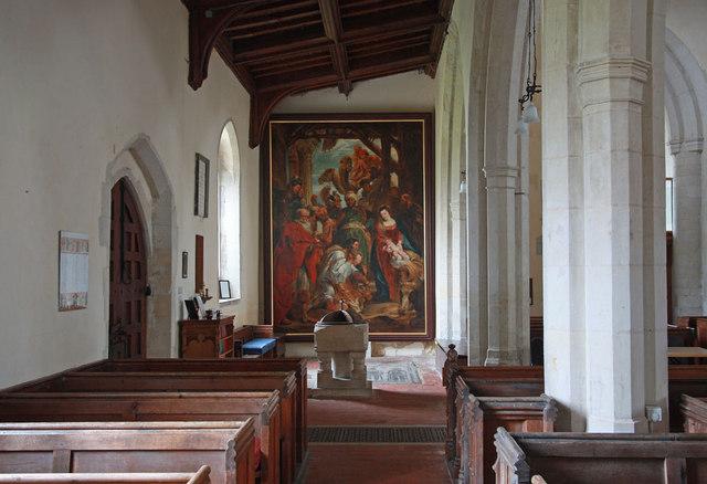 Holy Trinity, Chrishall, Essex - South aisle