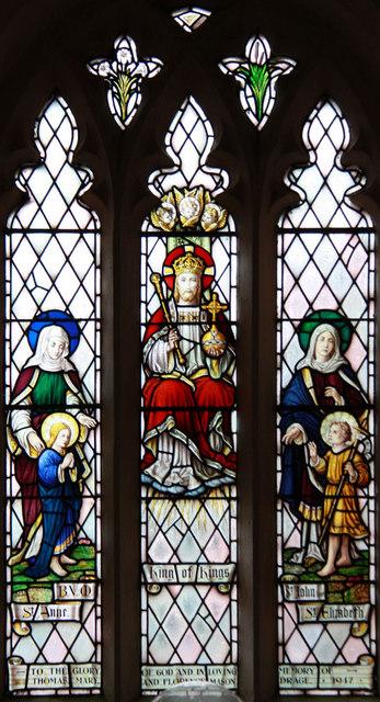 Holy Trinity, Chrishall, Essex - Stained glass window