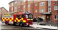 J3473 : Fire appliance, Belfast by Albert Bridge