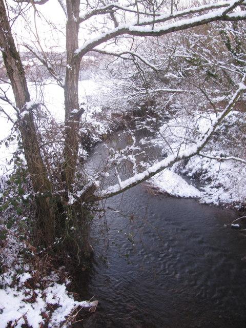 Malpas Brook in the Snow