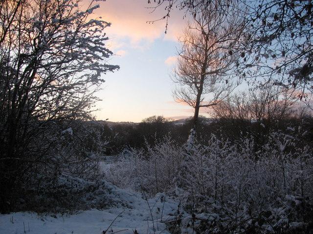 Snowy View Towards Twm Barlwm