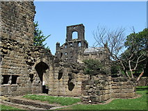 SE2536 : Kirkstall Abbey ruins by Leslie