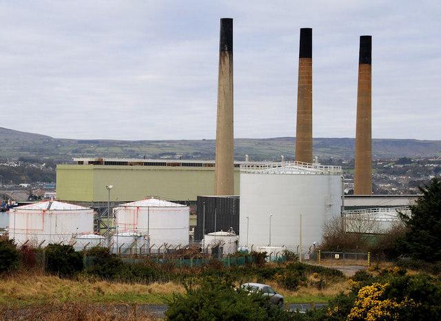 Chimneys, Ballylumford power stations, Islandmagee (1)
