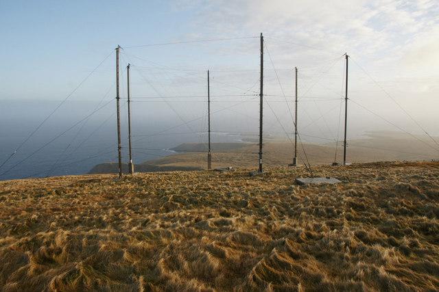 Masts on Saxa Vord