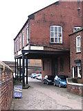 SK4293 : Rotherham - warehouse on Don Navigation by Dave Bevis