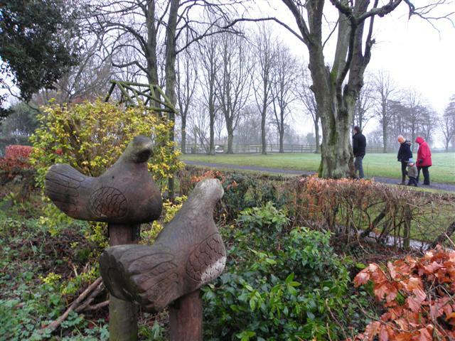 Bird carvings, Tannaghmore Gardens