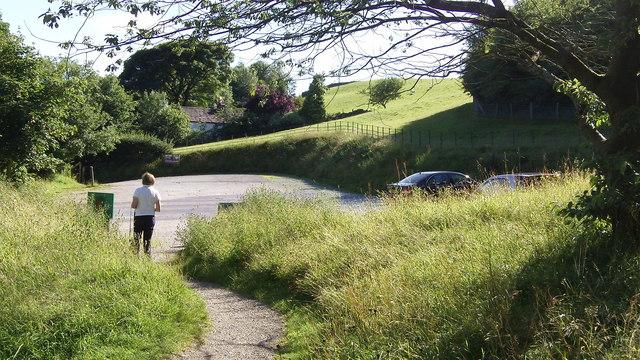 The Car Park at Townend, Troutbeck, Windermere, Cumbria