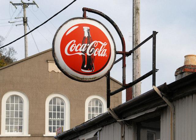 """Coca-Cola"" sign, Killyleagh"