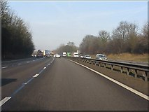 SJ9220 : M6 Motorway at Moss Pit by Peter Whatley