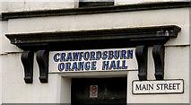 J4681 : Main Street sign, Crawfordsburn by Albert Bridge