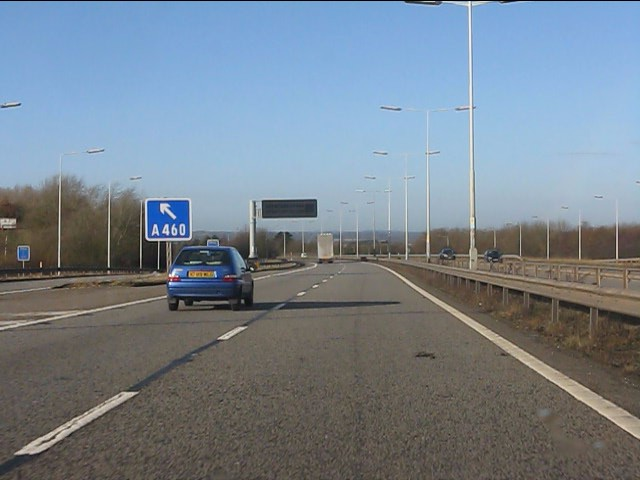 M54 Motorway at junction 1, westbound