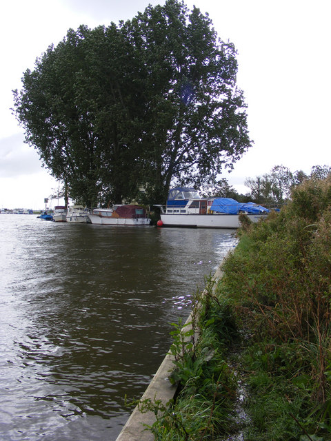 Boats moored near Carleton Beck Outfall