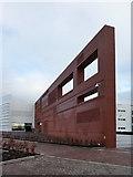 SU3715 : The wall, Ordnance Survey HQ, Southampton by Alexander P Kapp