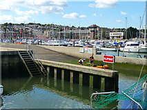 SY6778 : Weymouth - Slipway by Chris Talbot