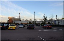 TG2407 : Carrow Road Stadium from Morrisons car park by Steve Daniels