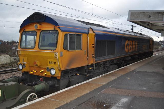East Coast Diesel >> GBRf - 66711 at Peterborough © Ashley Dace cc-by-sa/2.0 ...
