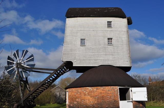 Garboldisham Post Mill - External View
