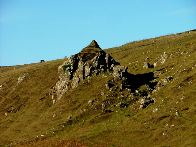 Rock outcrop with pinnacle