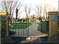TM0588 : Banham churchyard extension by Hunt's Corner by Evelyn Simak