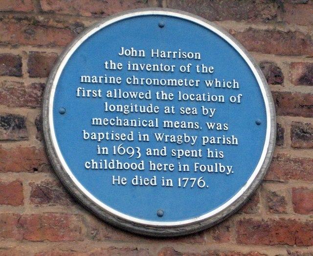 Blue plaque, John Harrison