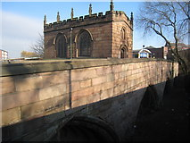 SK4293 : Chantry Chapel of Our Lady and Rotherham Bridge by Jonathan Thacker