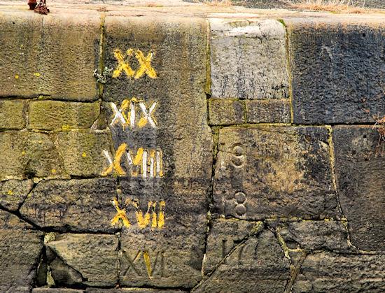 Draught marks, Hamilton Dock, Belfast