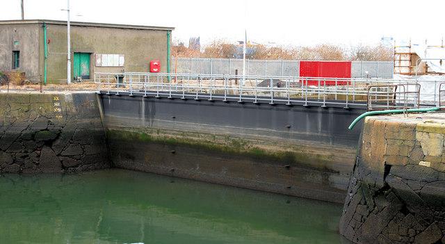 The Hamilton Dock entrance, Belfast