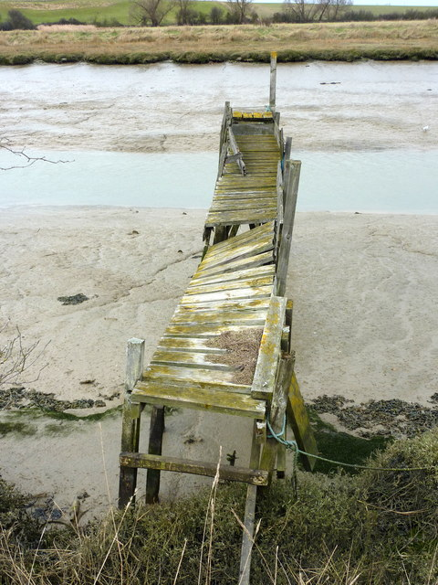 A disused jetty on Oare Creek