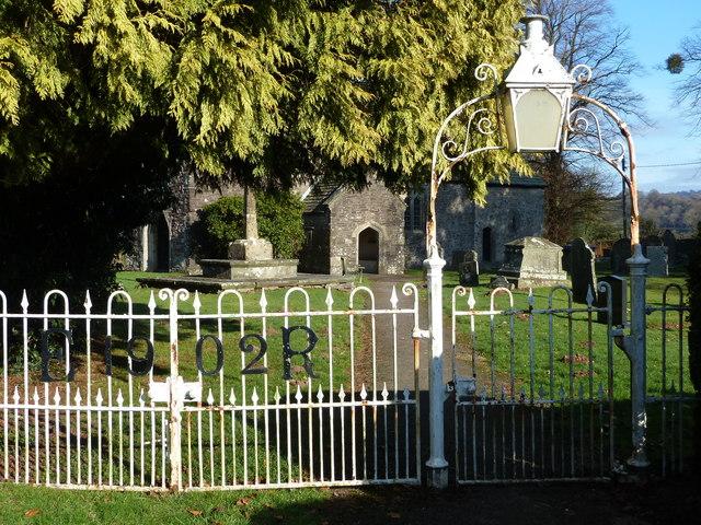 Entrance to grounds of St Andrew's church, Tredunnock