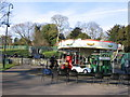 ST7365 : Roundabout and skateboard area, Victoria Park by Virginia Knight
