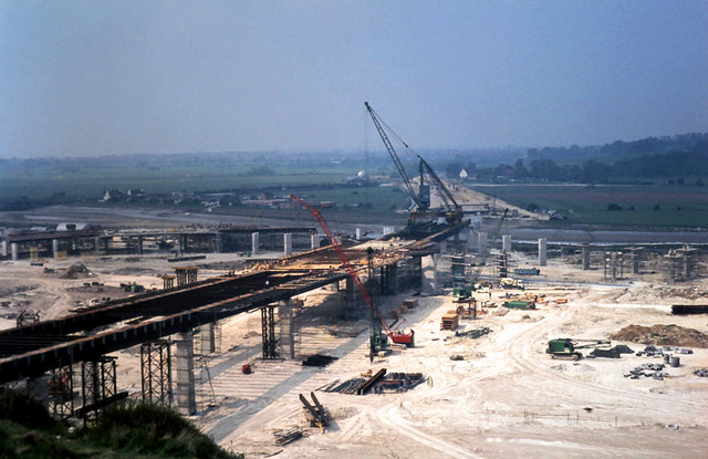 A27 flyover under construction in 1969