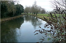 SU4828 : River Itchen at St Cross by Graham Horn