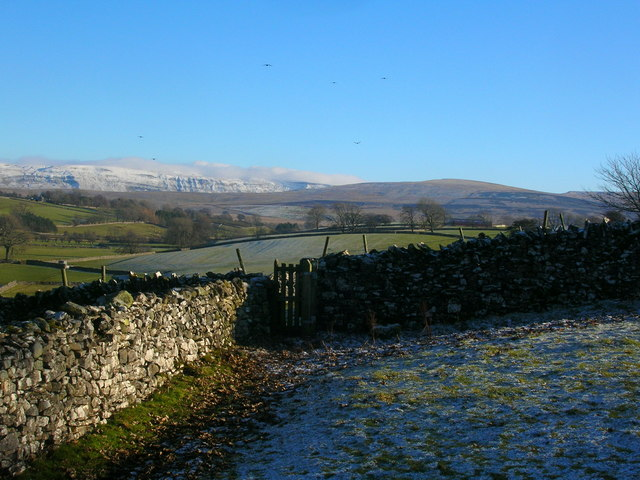 Wall and stile on the edge of Ravenstonedale