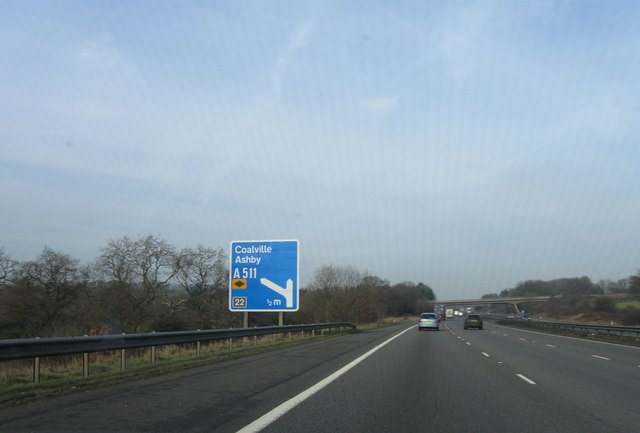 M1 south of Junction 22, northbound