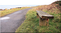 J4482 : Coastal seat near Helen's Bay by Albert Bridge