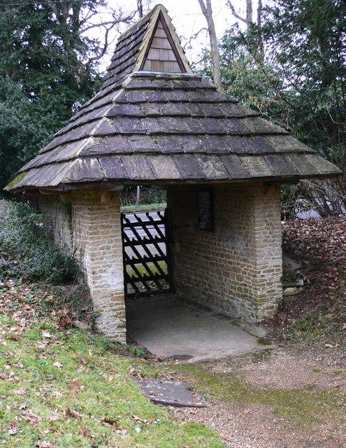 Lych gate at Grafham church